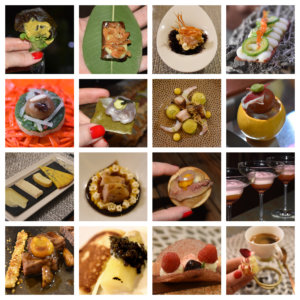 A collage with some of the tapas served at La Cabaña.