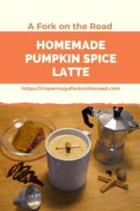 A Fork on the Road: Homemade Pumpkin Spice Latte